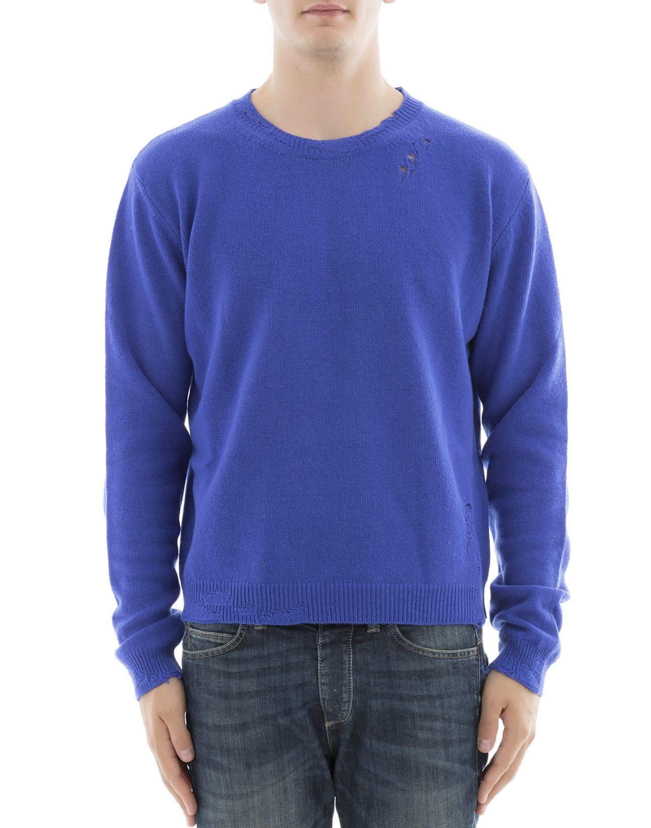 Blue Wool Sweatshirt