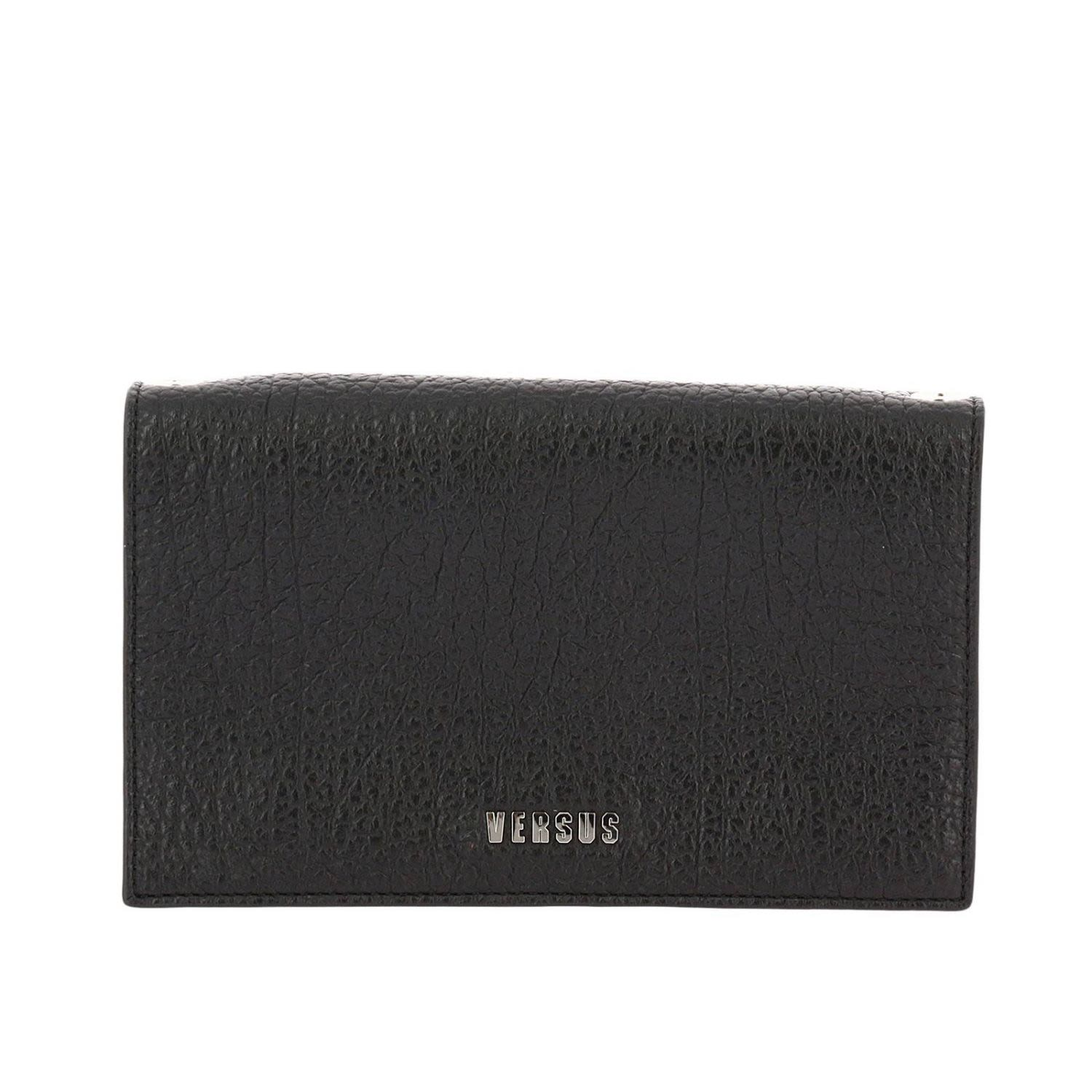 textured logo shoulder bag - Black Versus