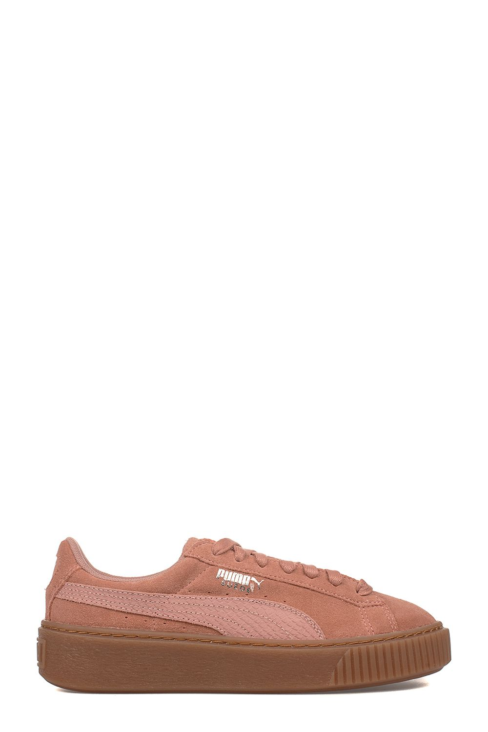 Antique Pink Platform Suede Sneakers