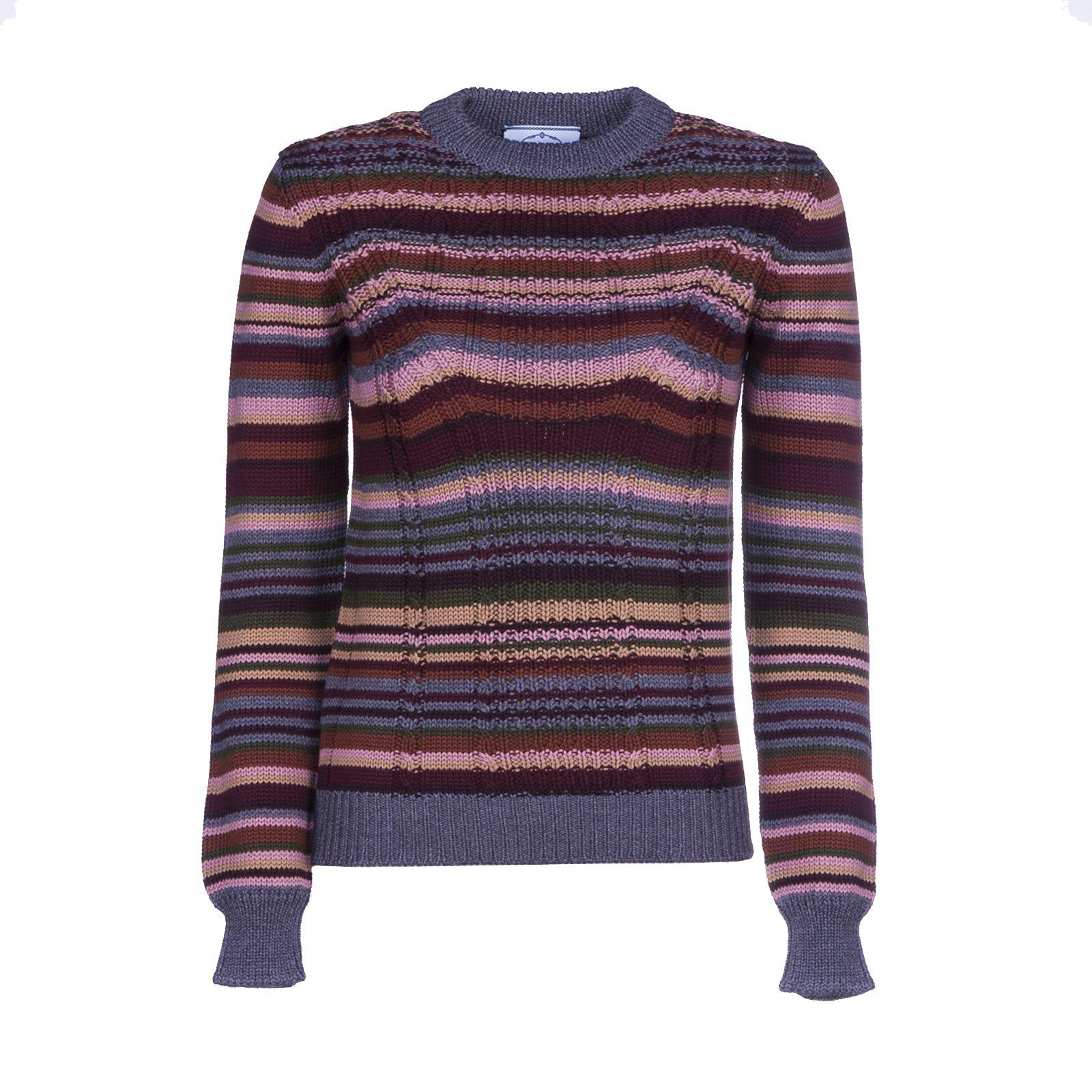 Prada Striped Knit Jumper