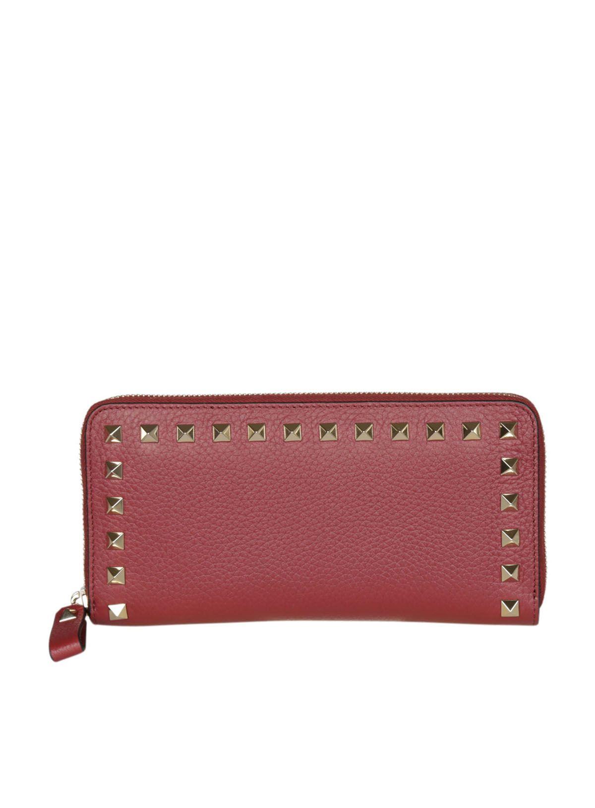 Valentino Valentino Rockstud Zip Around Wallet