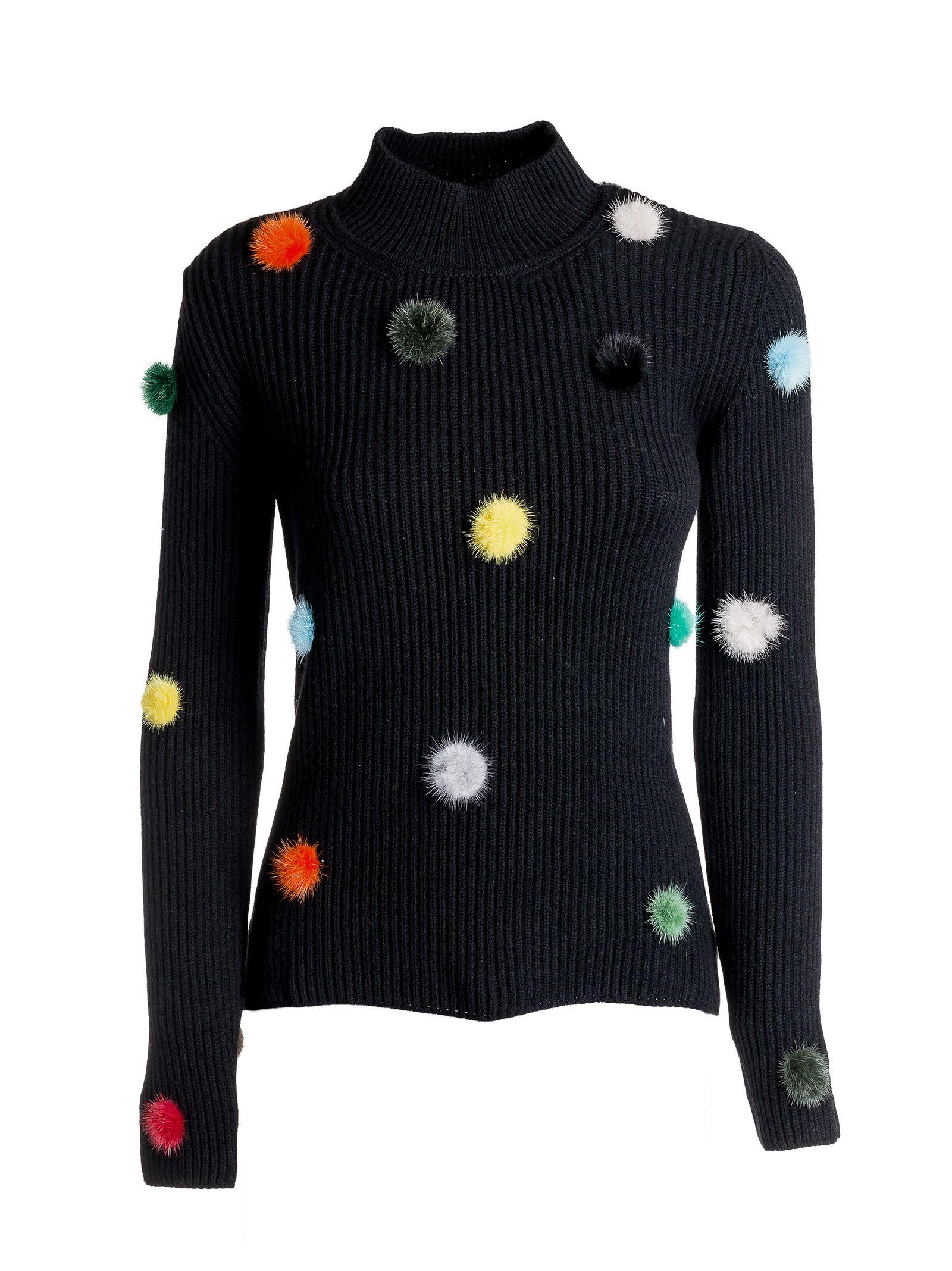 Fendi Knit Pom Pom Jumper