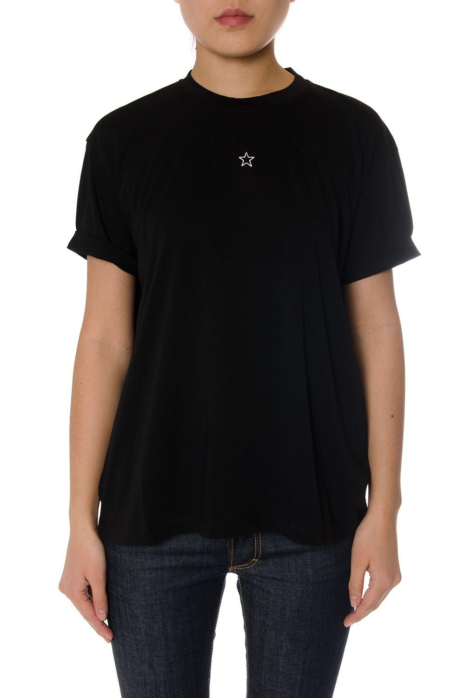 Stella McCartney Black Cotton T-shirt With Star