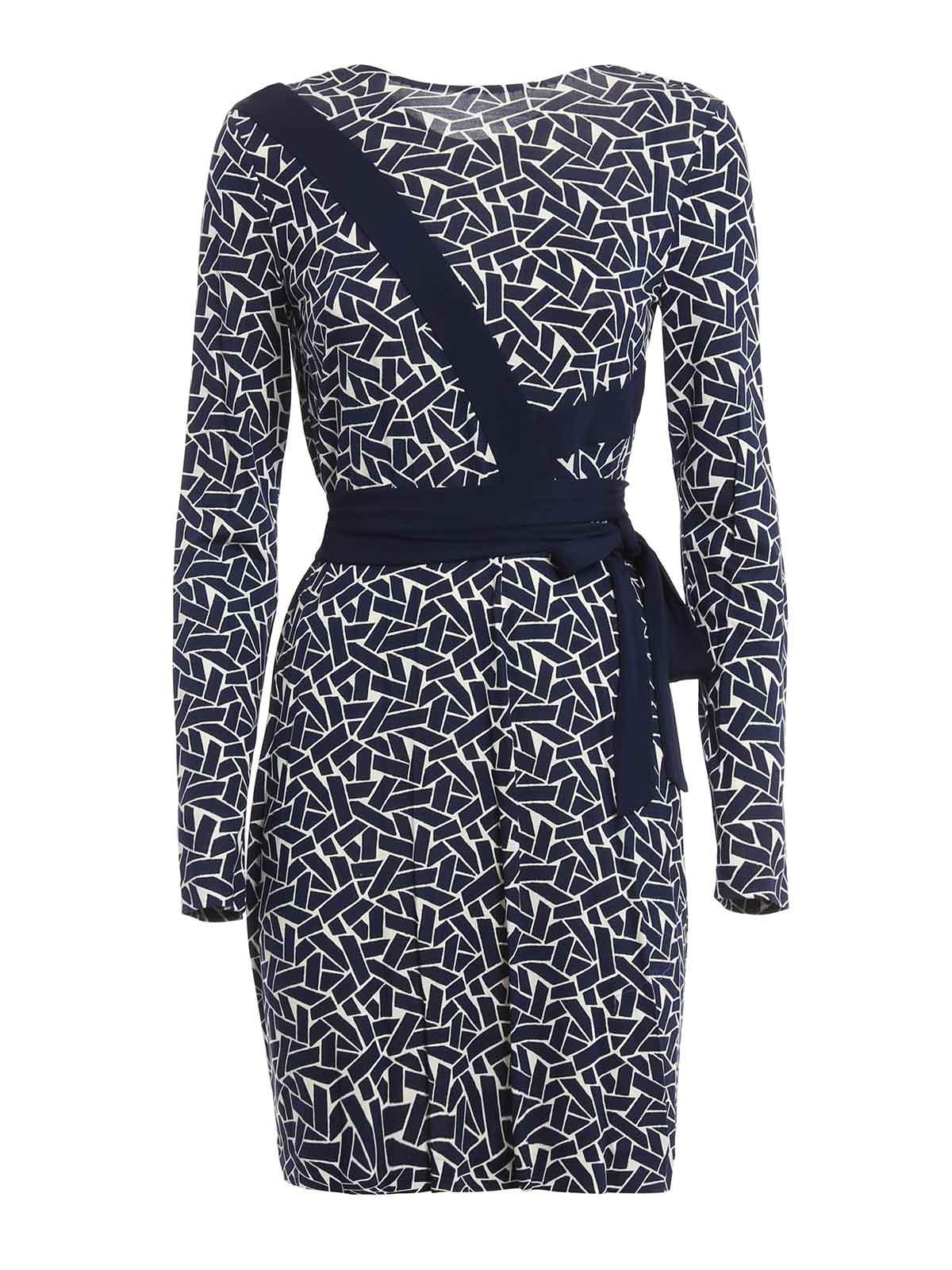 Diane Von Furstenberg Vienna Silk Jersey Wrap Dress