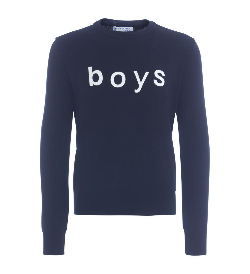 Comme Des Garçons Shirt Boys Black Jumper
