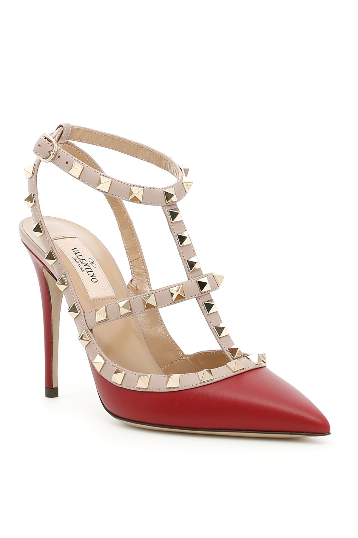 Rockstud Ankle Strap Shoes