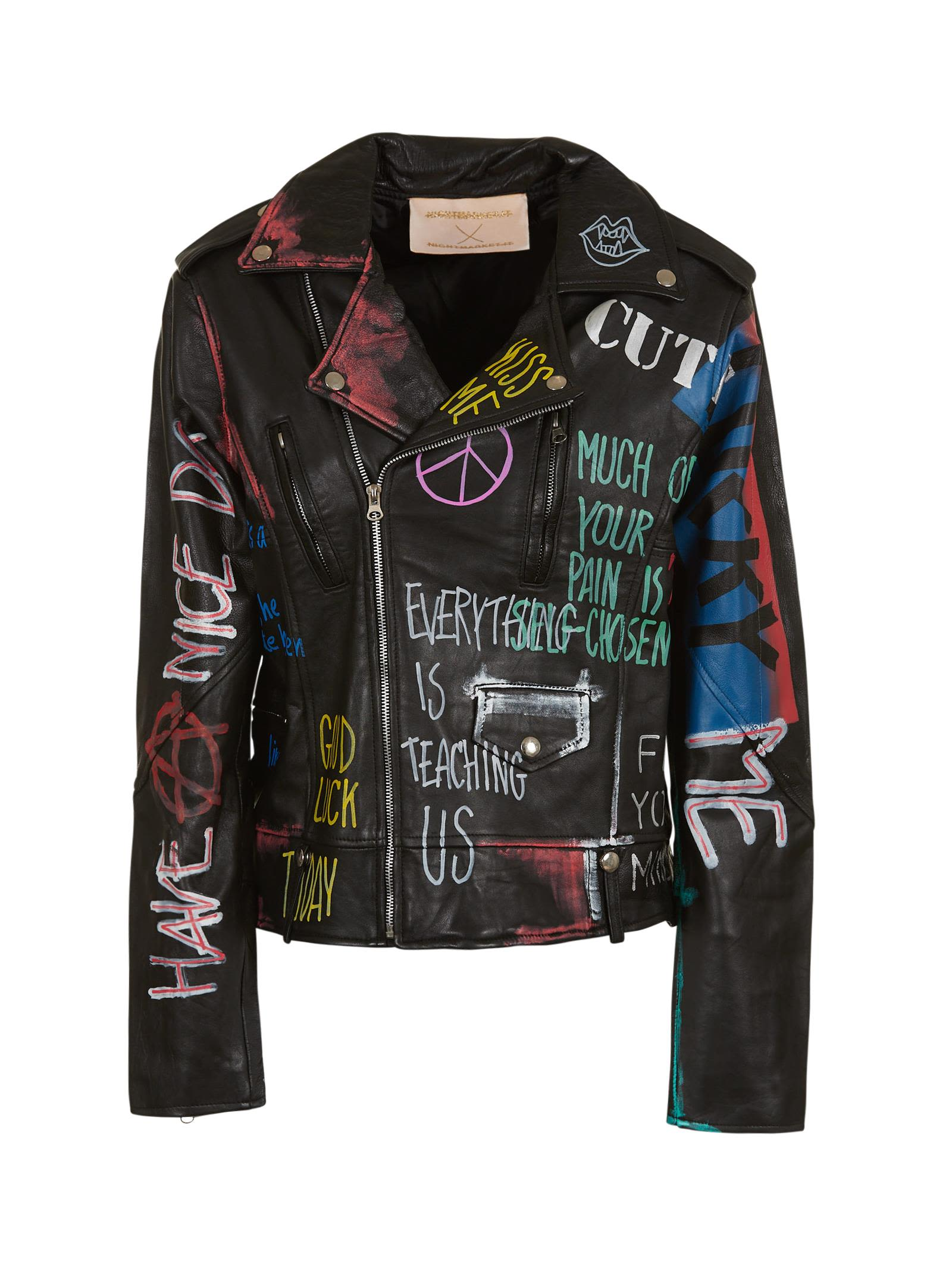Nightmarket Lover Peace Biker Jacket