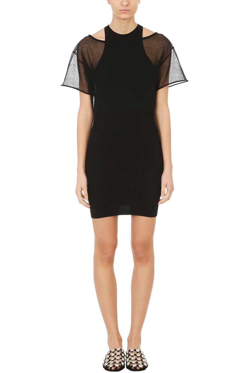 Alexander Wang Ribbed Knit Midi Dress