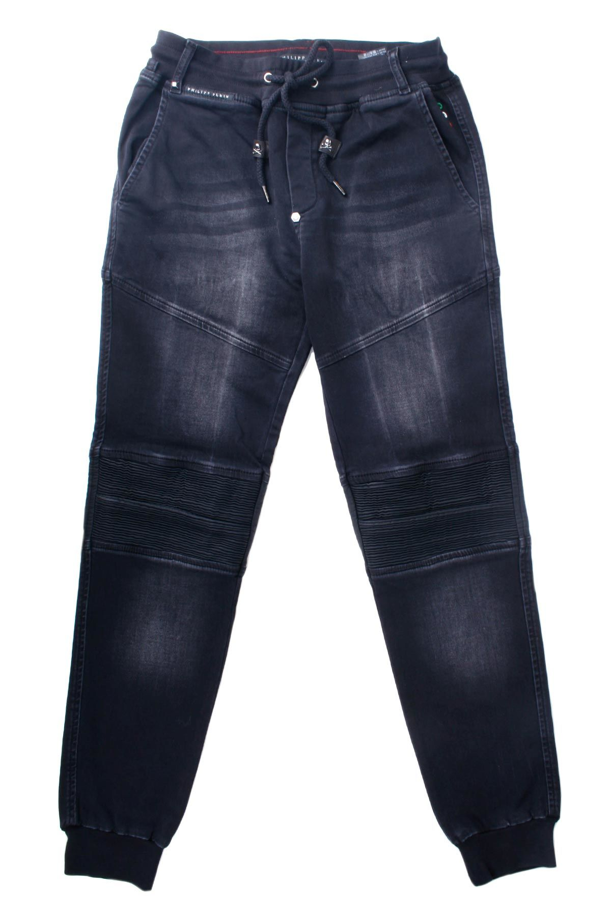 Philipp Plein Slim Shady Chill Fit Nets Black Jeans
