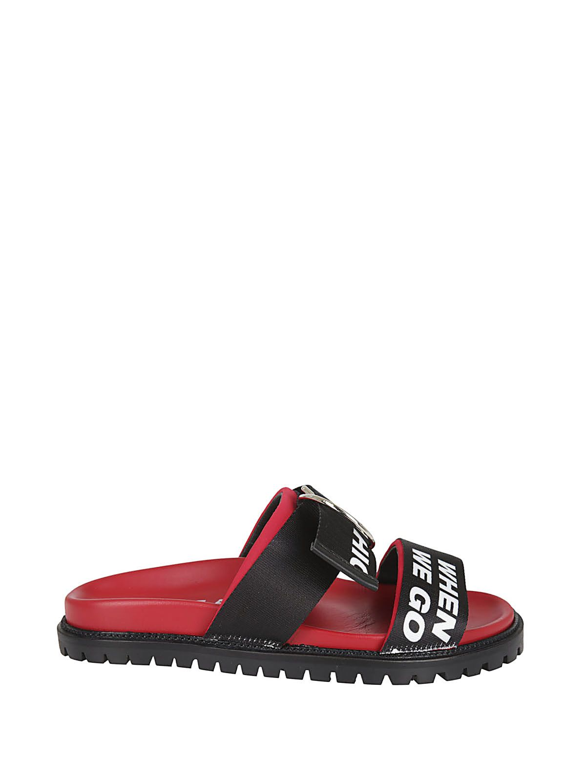 Joshua Sanders Buckle Strap Sliders