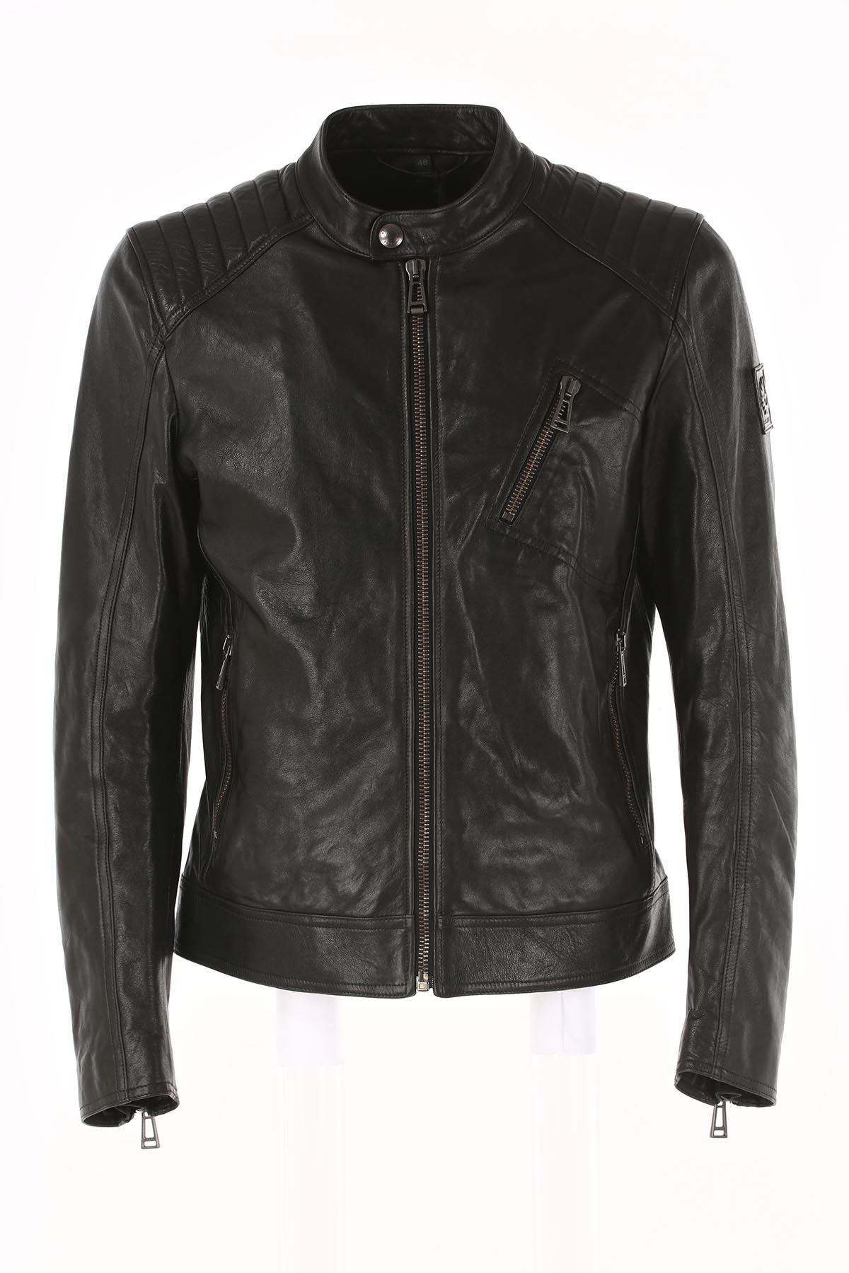 Belstaff Zipped Leather Jacket