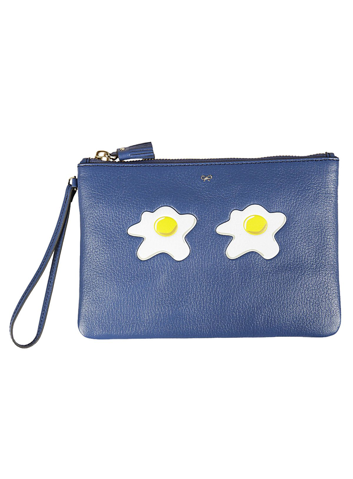 Anya Hindmarch Blueberry Fried Eyes Pouch