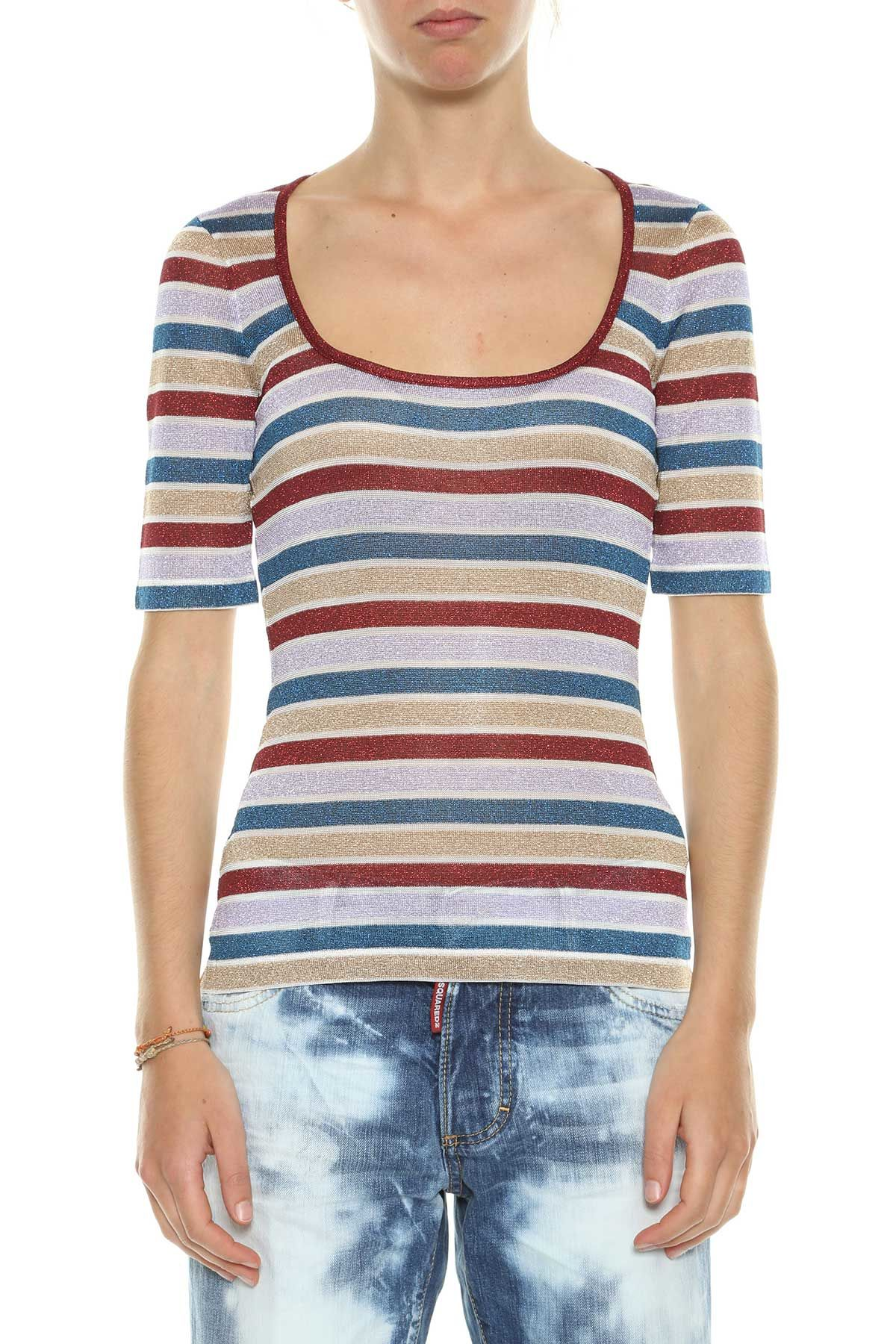 Dsquared2 Stripes Lurex T-shirt