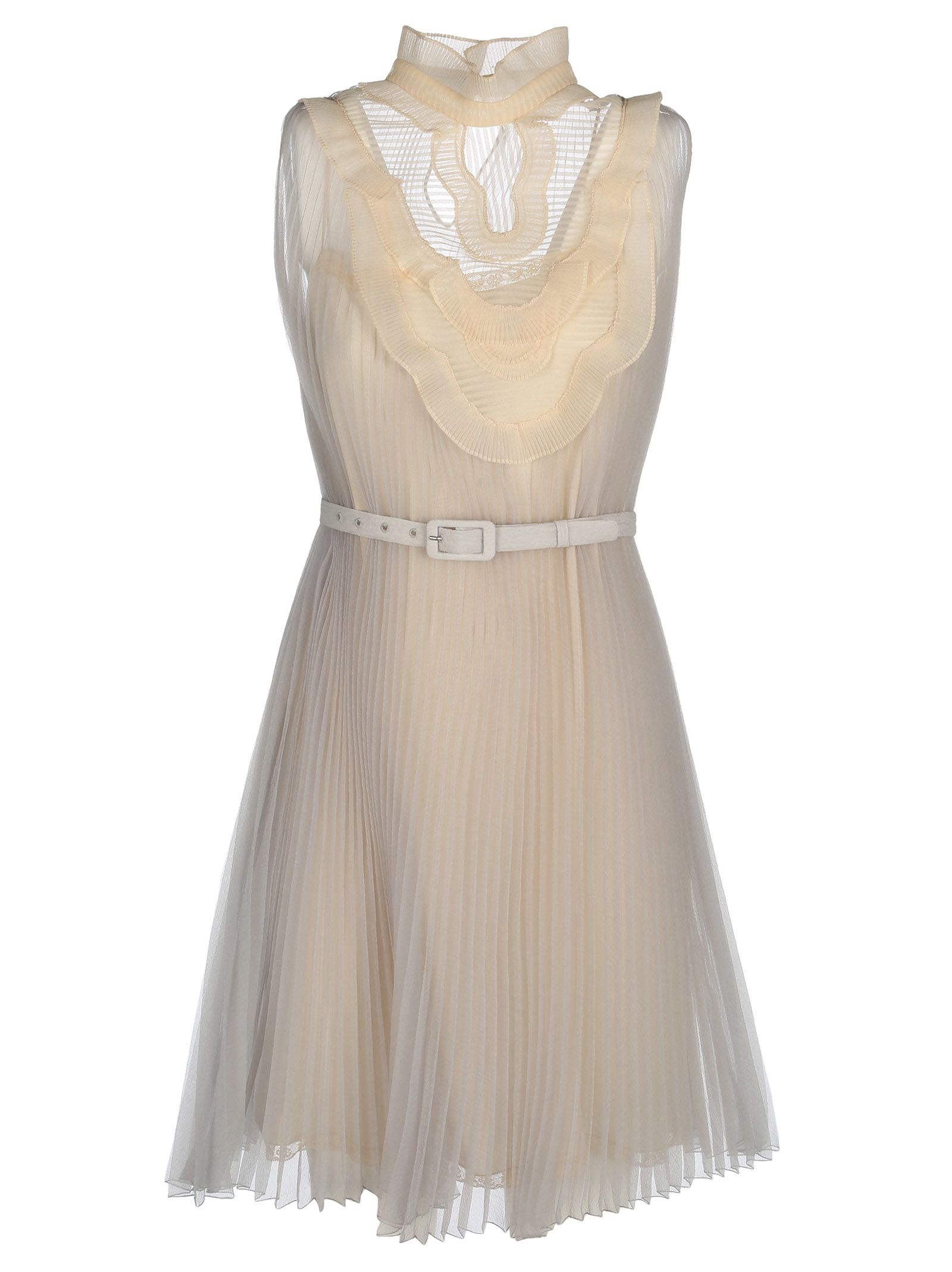 Prada Belted Pleated Dress