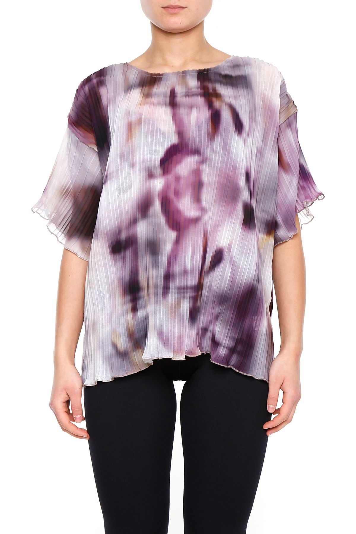 Pleated T-shirt