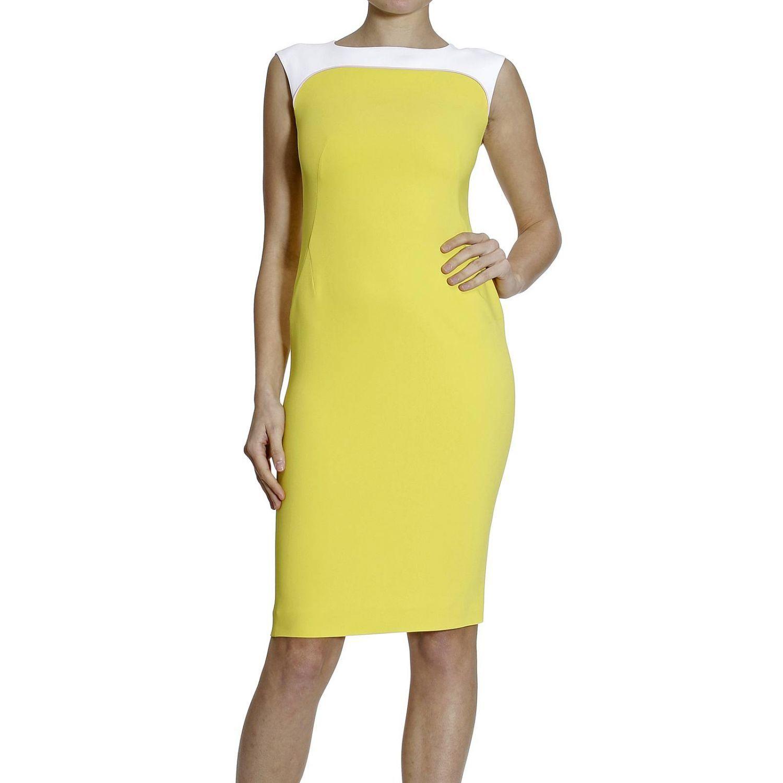 Dress Sleeveless Cady Bicolor
