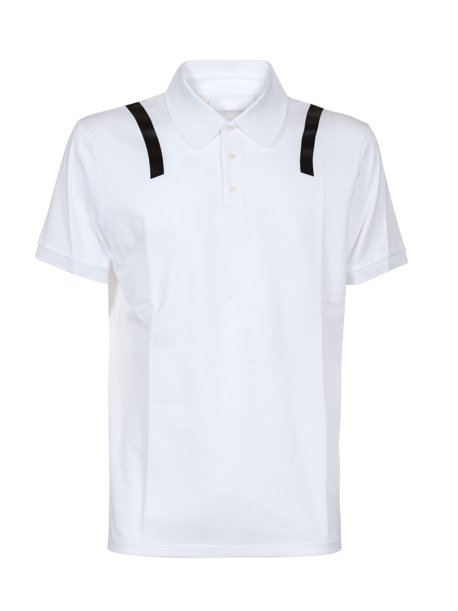 Neil Barrett Stripe Shouldered Polo Shirt