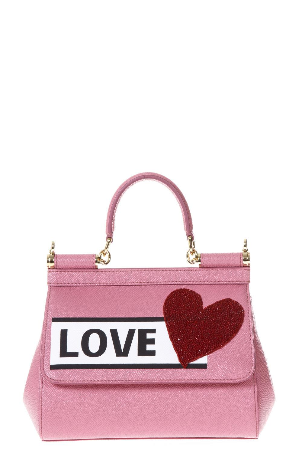 DOLCE AND GABBANA PINK LOVE SICILY BAG