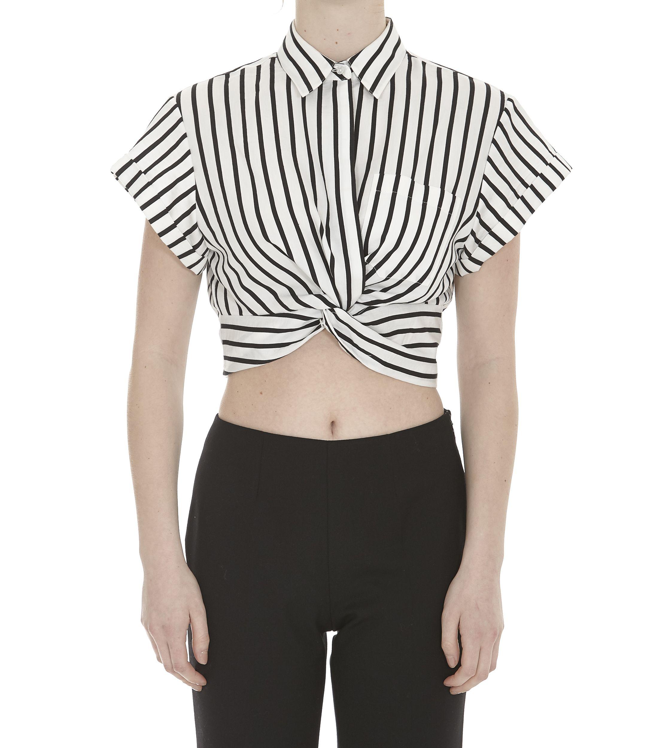 Alexander Wang Striped Twist Top