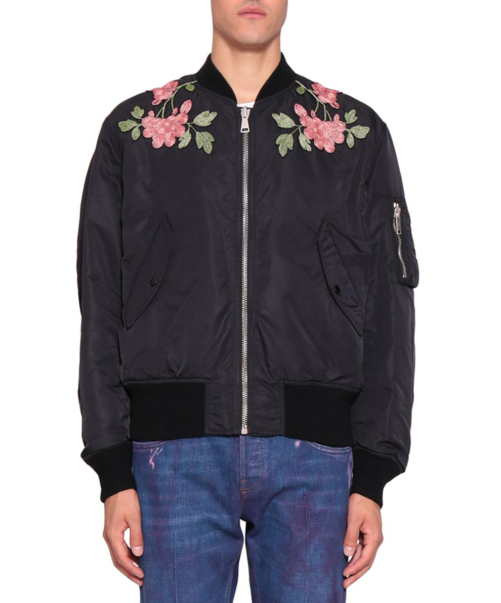 Gucci Reversible Nylon And Silk Bomber Jacket