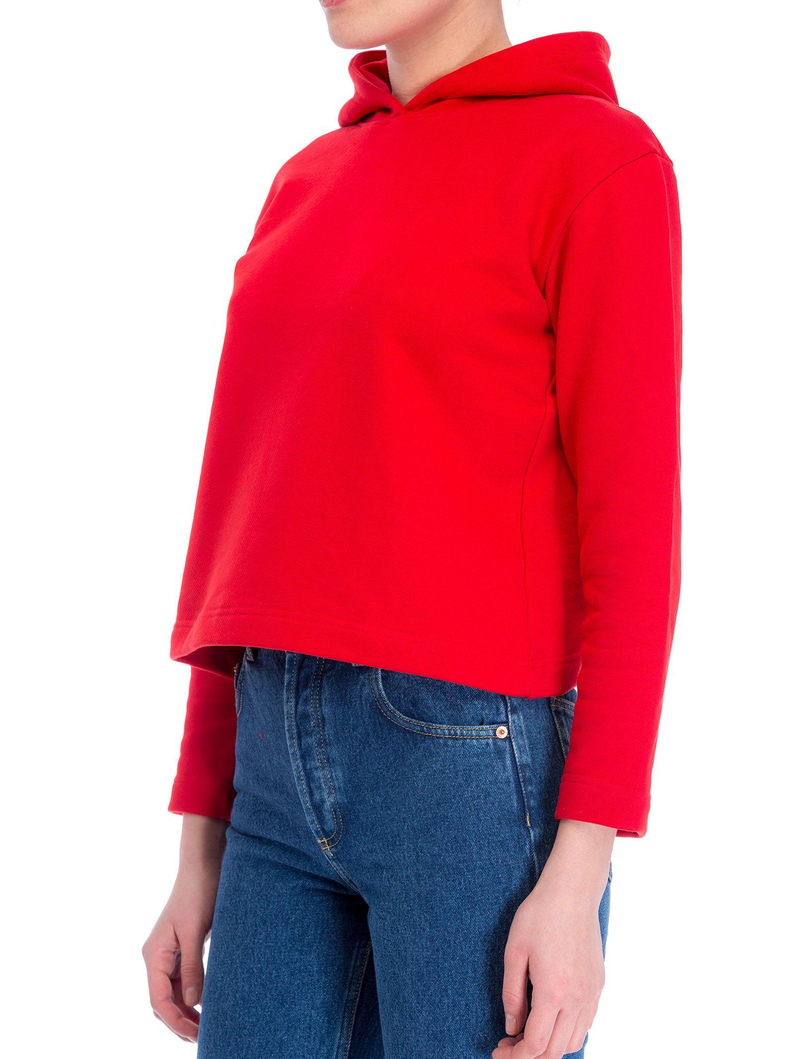 balenciaga hoodie womens red