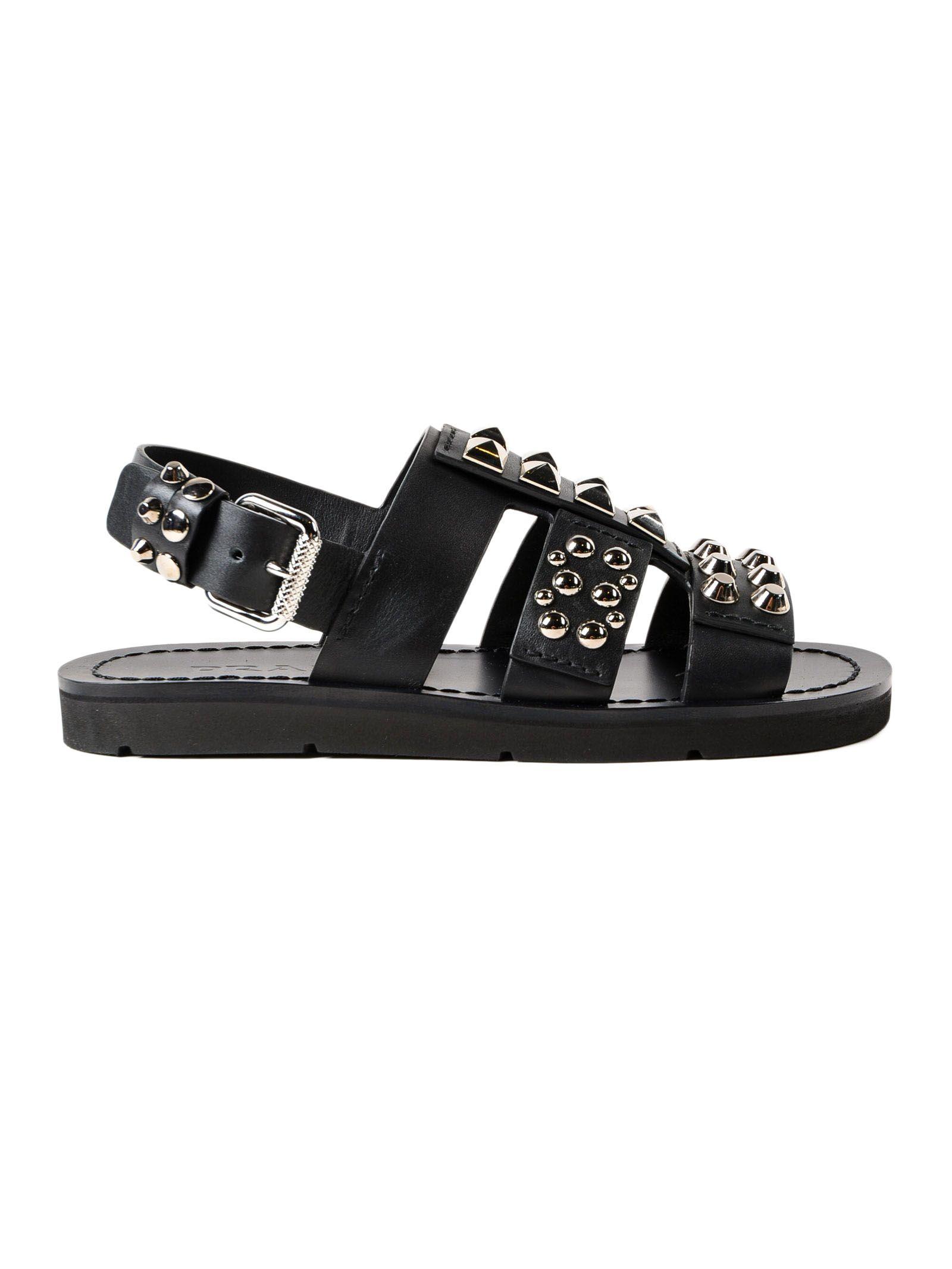 Prada Novo Calf Stud Sandal