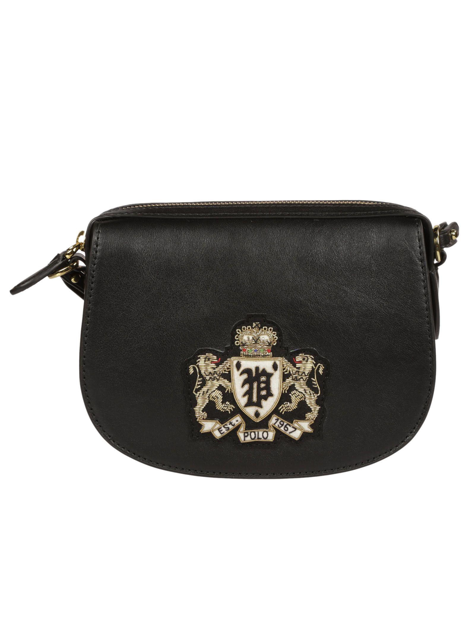 Ralph Lauren Appliqué Detail Shoulder Bag In Black  ce699ac2640cc