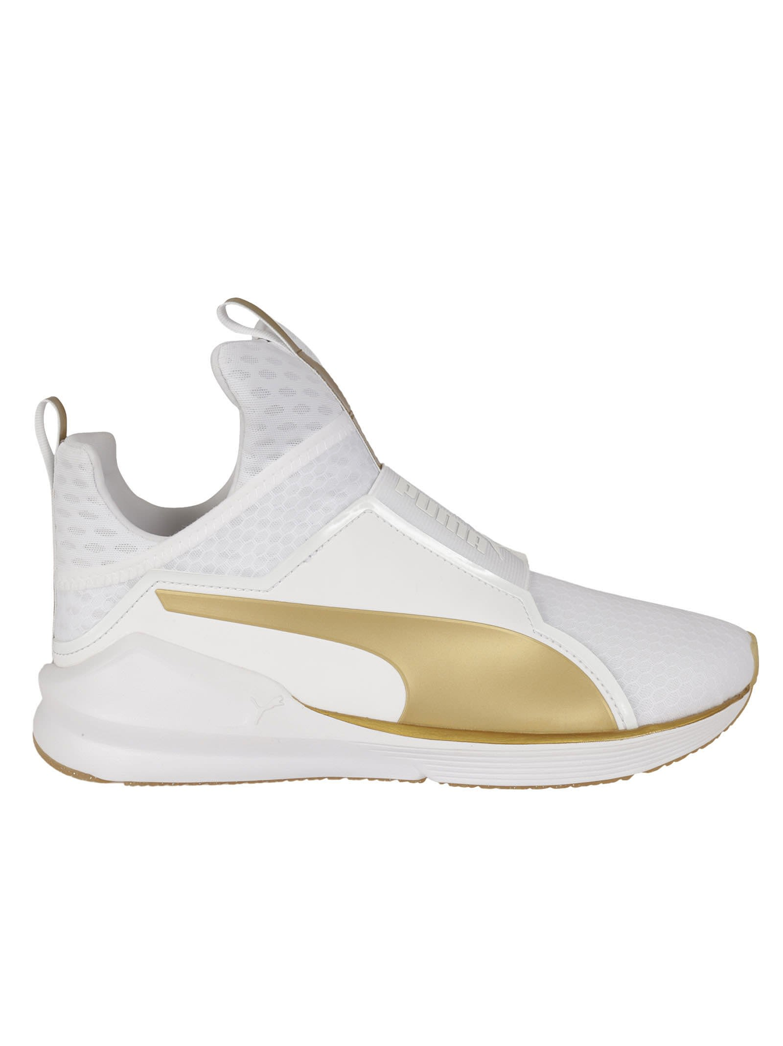 White And Gold Fierce Sneakers