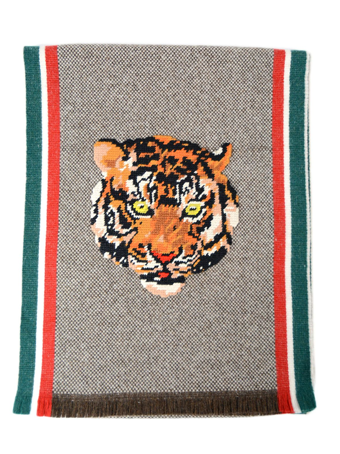 Gucci Intarsia-knit Scarf