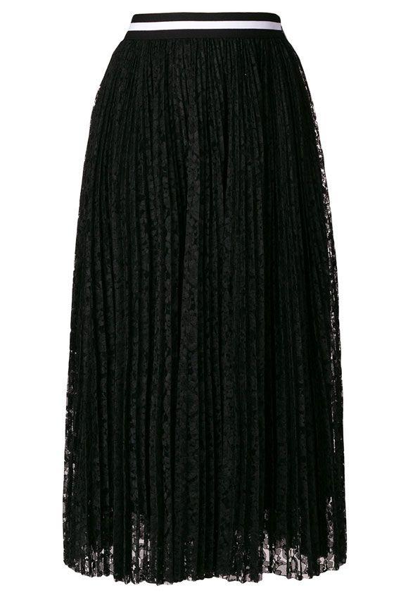 Msgm Long Lace Skirt