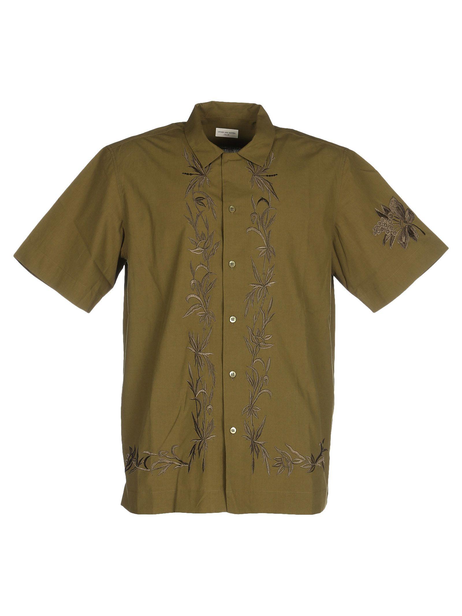 Dries Van Noten Embroidered Short-sleeve Shirt