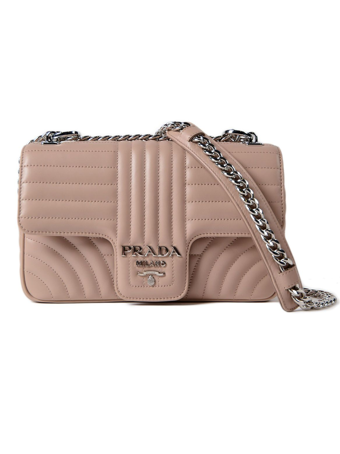 Prada Soft Calf Impunture Shoulder Bag