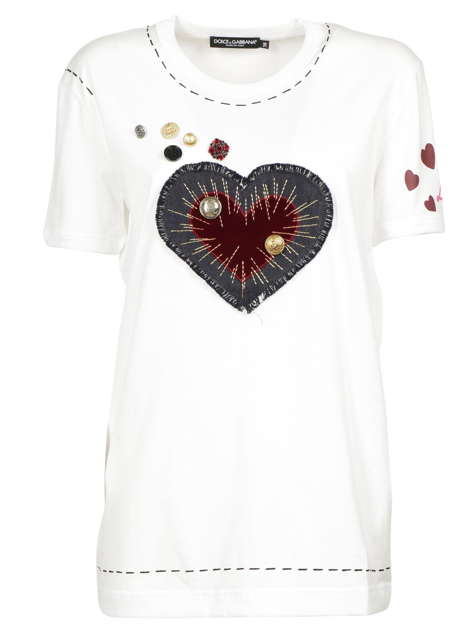 Dolce gabbana dolce gabbana t shirt bianco ottico for Dolce gabbana t shirt women