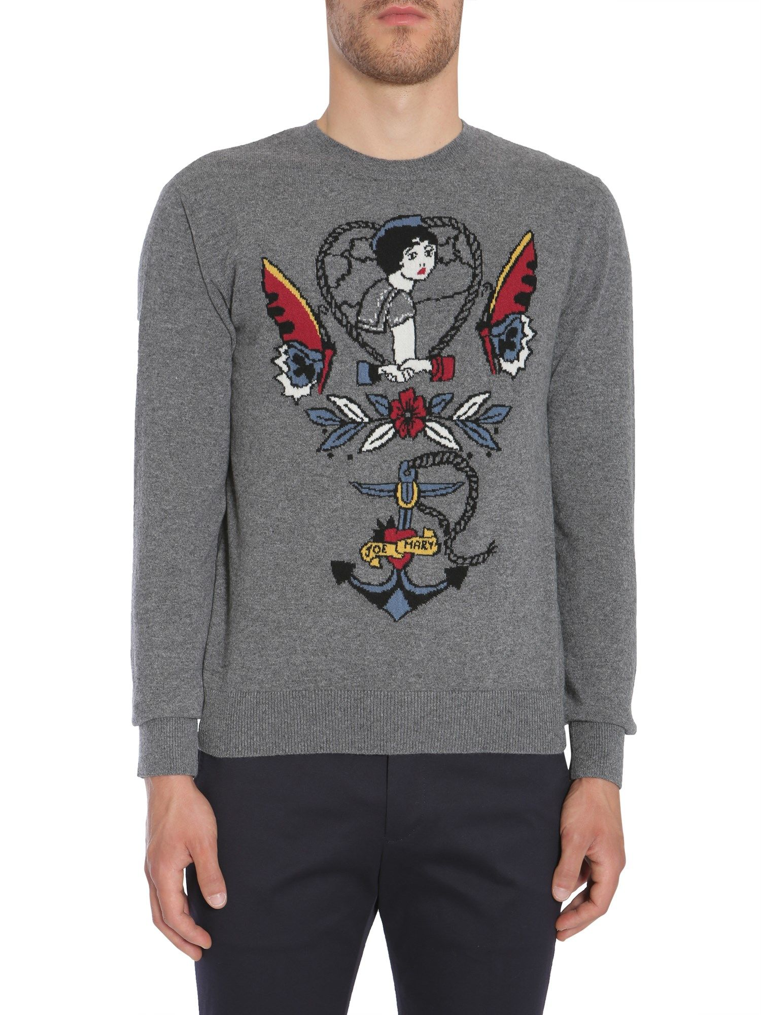 Tattoo Intarsia Sweater