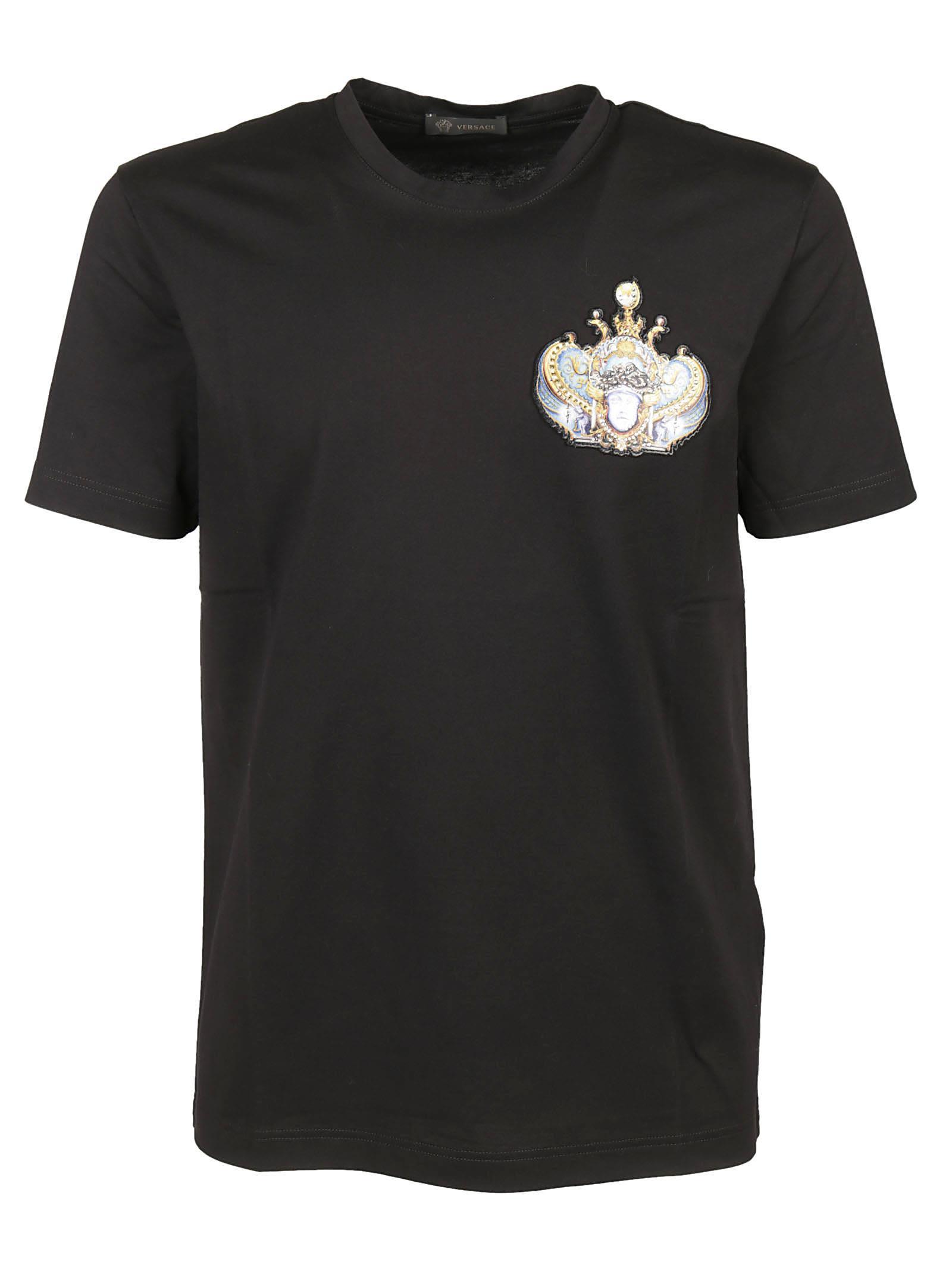 Versace Embellished Badge T-shirt