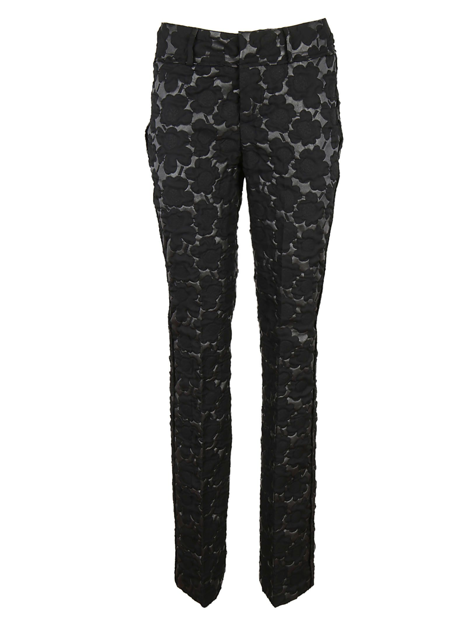 Marni - Marni Floral Quilted Trousers - Black, Women's Trousers ... : quilted trousers - Adamdwight.com
