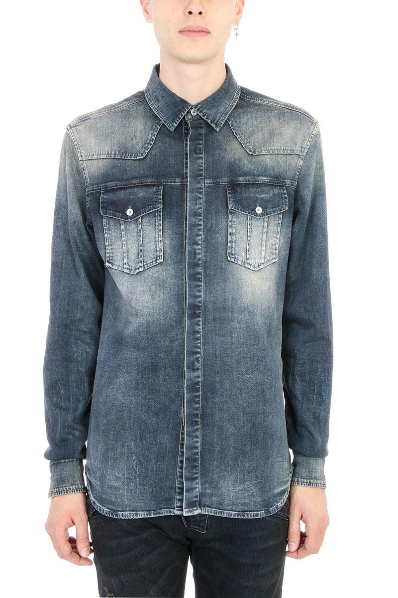 Pierre Balmain Blue Denim Shirt