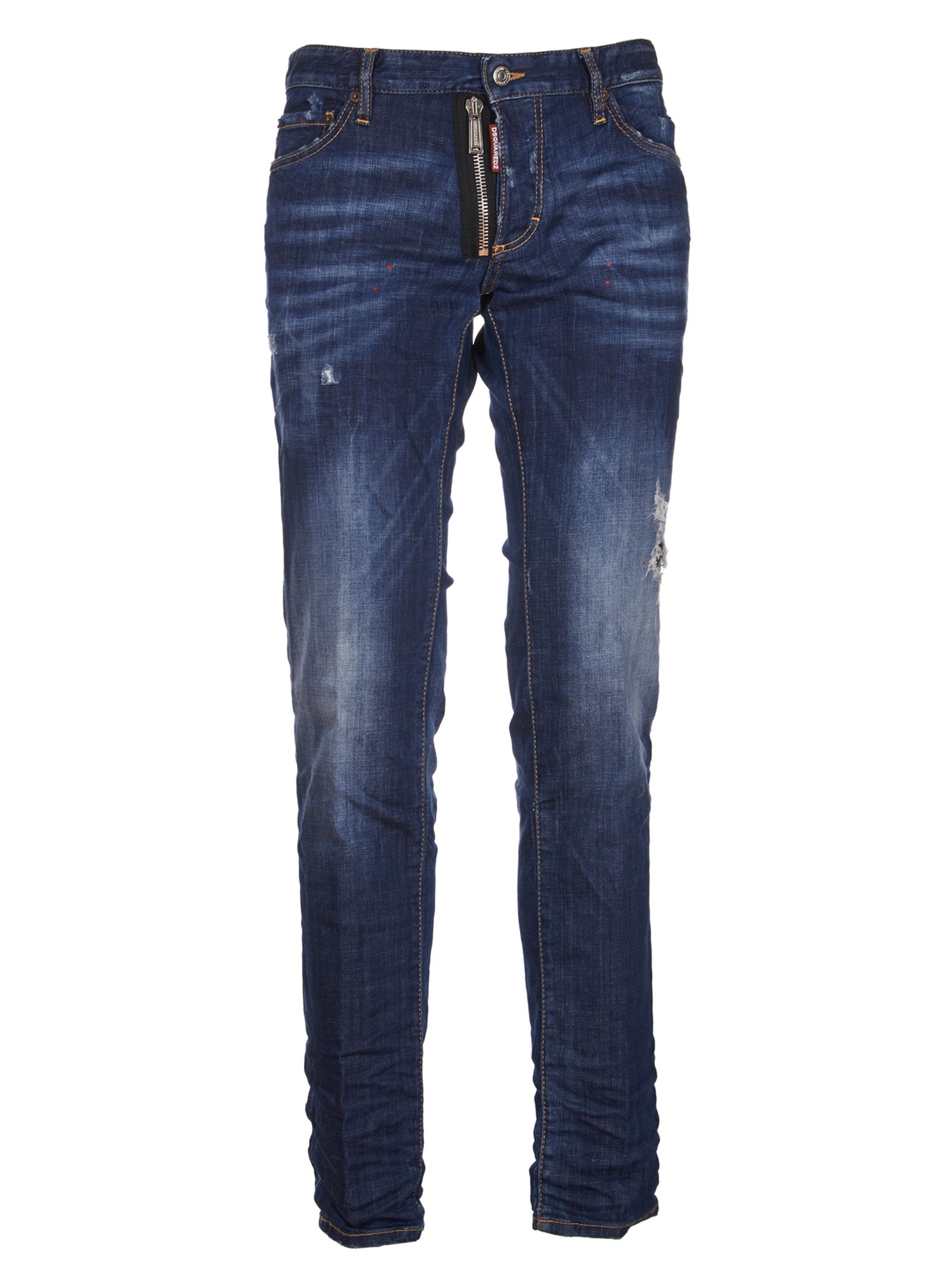 Dsquared2 Faded Fitted Jeans