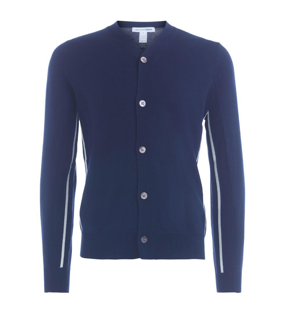 Comme Des Garçons Shirt  COMME DES GARÇONS SHIRT DARK BLUE CARDIGAN