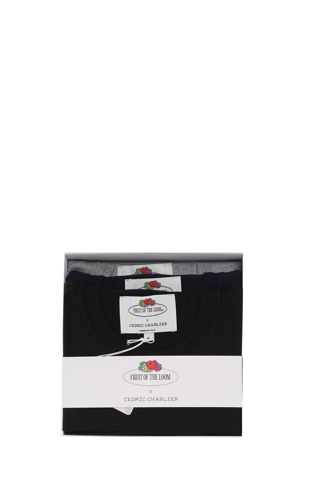 Cedric Charlier Three Pack Of Double-pockets Cotton-jersey T-shirts Fruit Of The Loom X Cedric Charl