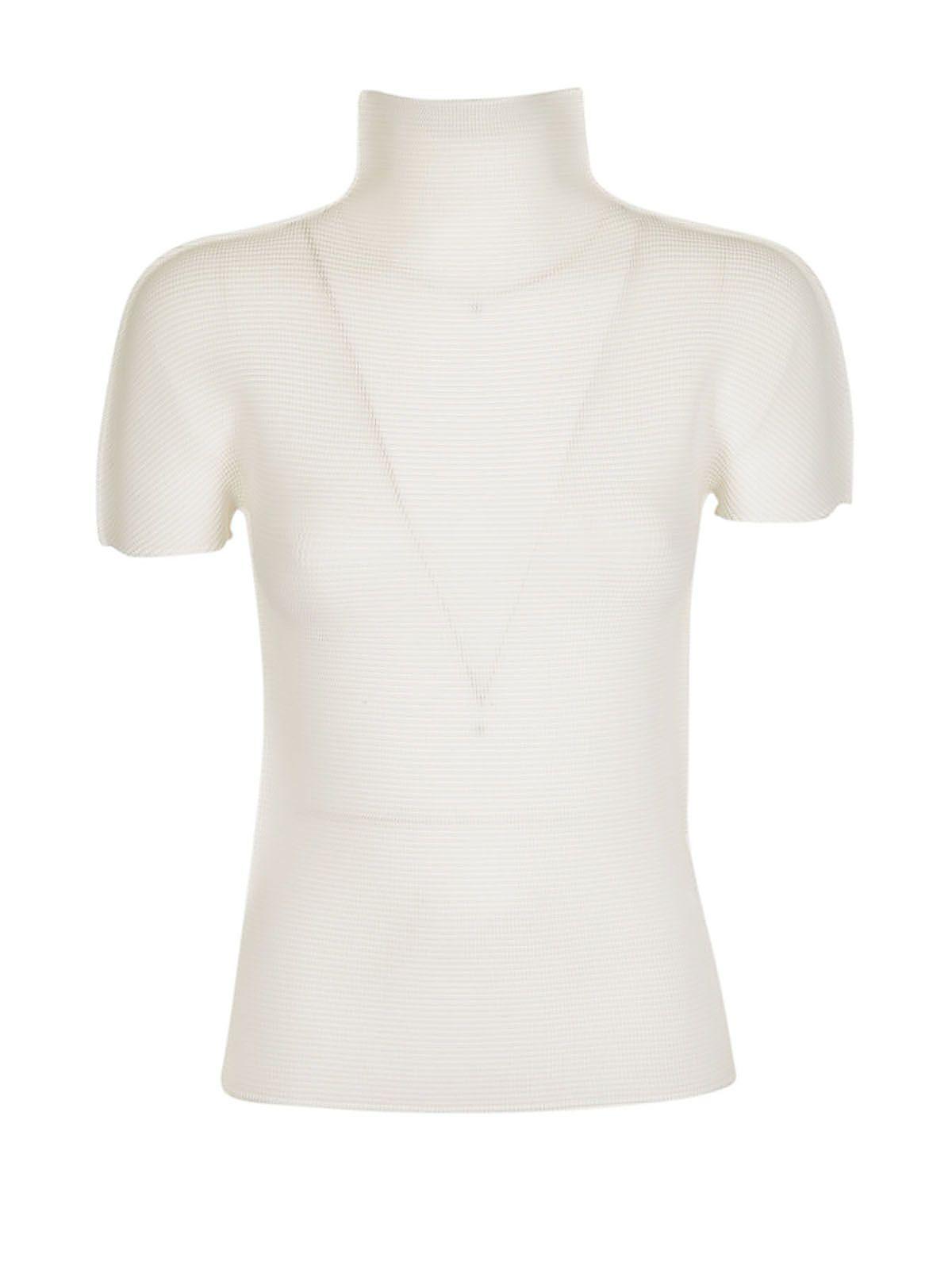 Issey Miyake Cauliflower High Neck T-shirt