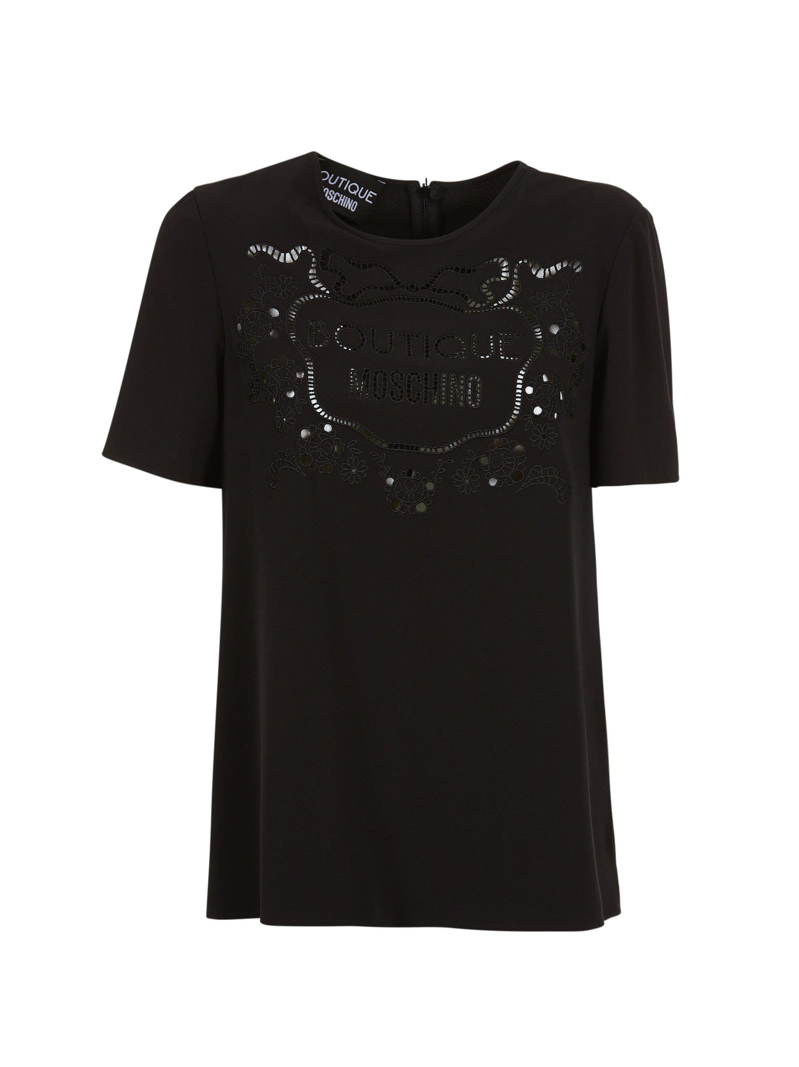 Moschino Boutique Embroidered Logo T-shirt