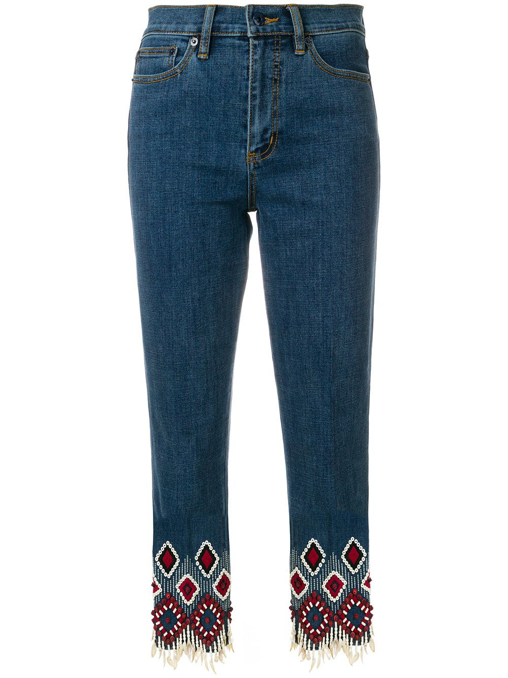 Tory Burch Embroidered Jeans