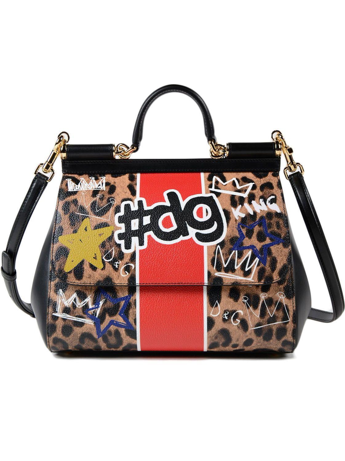 Dolce & Gabbana Printed Crespo Handbag