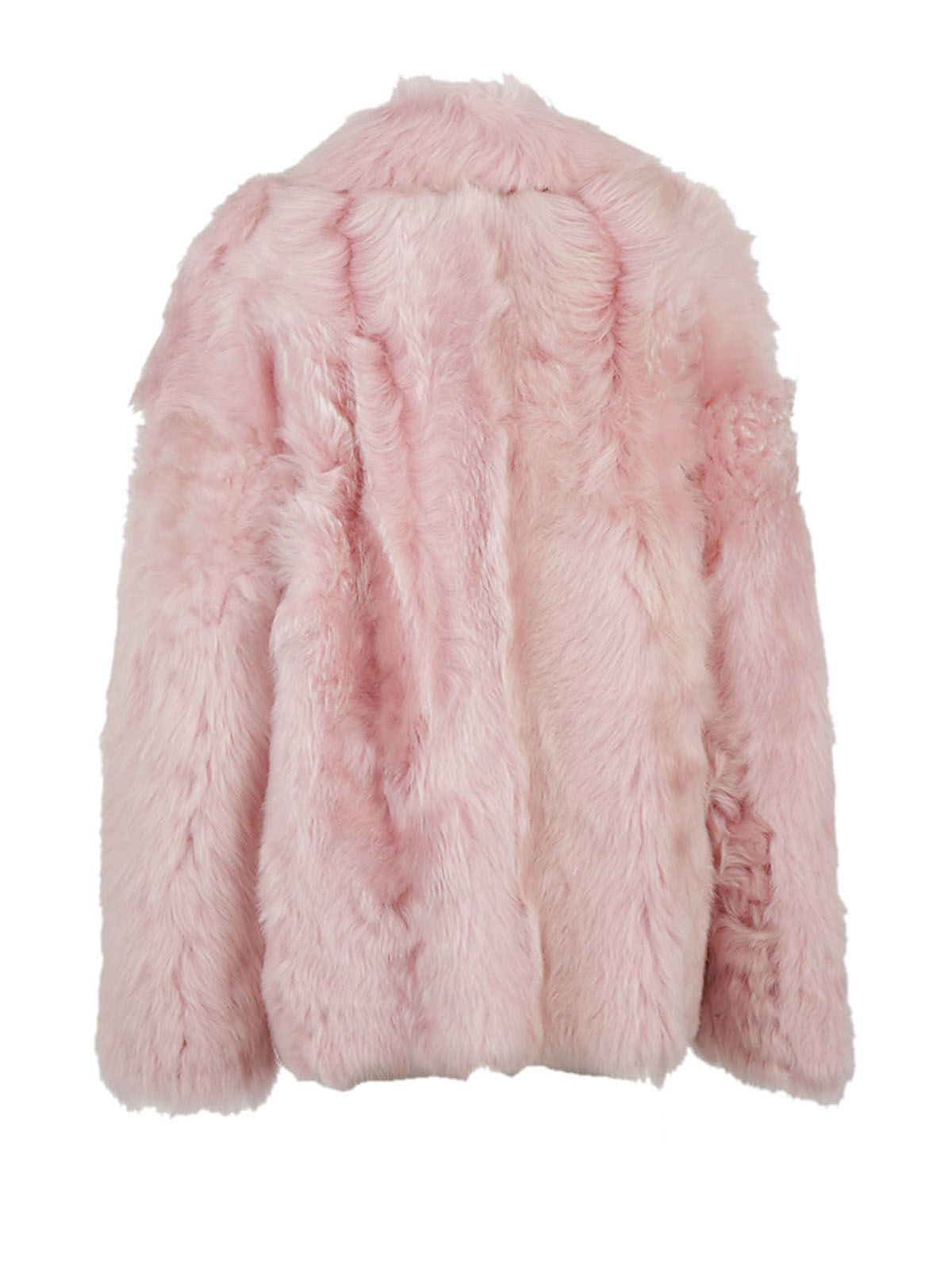 Rochas - Rochas Double Breasted Coat - Pink, Women's Coats | Italist