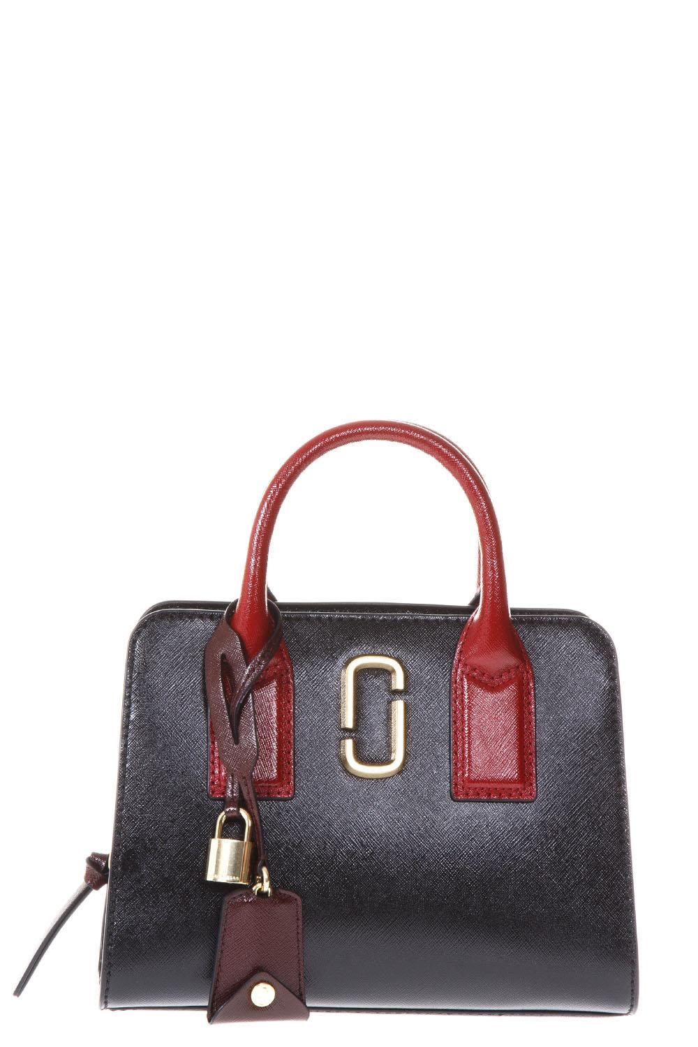 Marc Jacobs Big Little Shot Black Leather Hand Bag