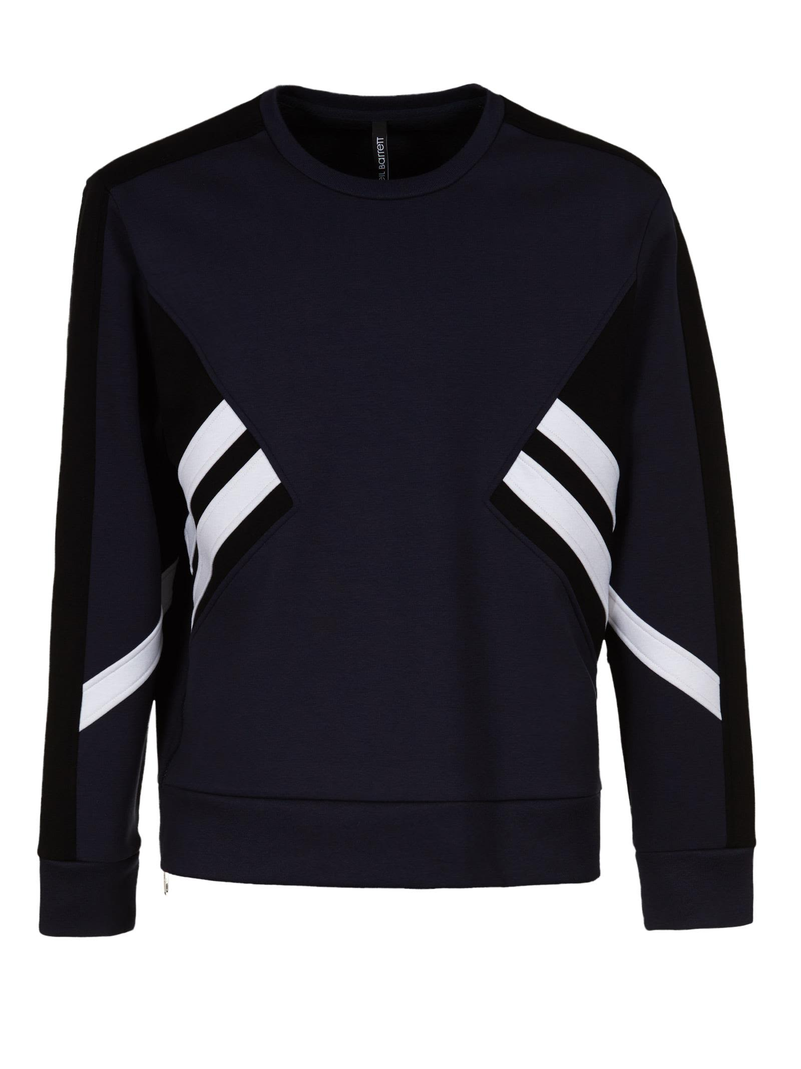 Neil Barrett Stripe Detail Sweatshirt