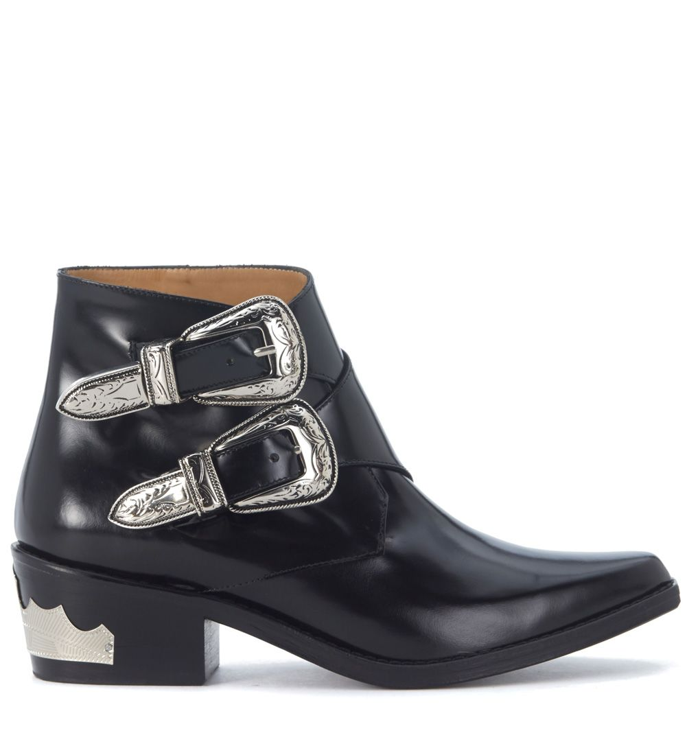 Texan Toga Pulla In Black Brushed Leather
