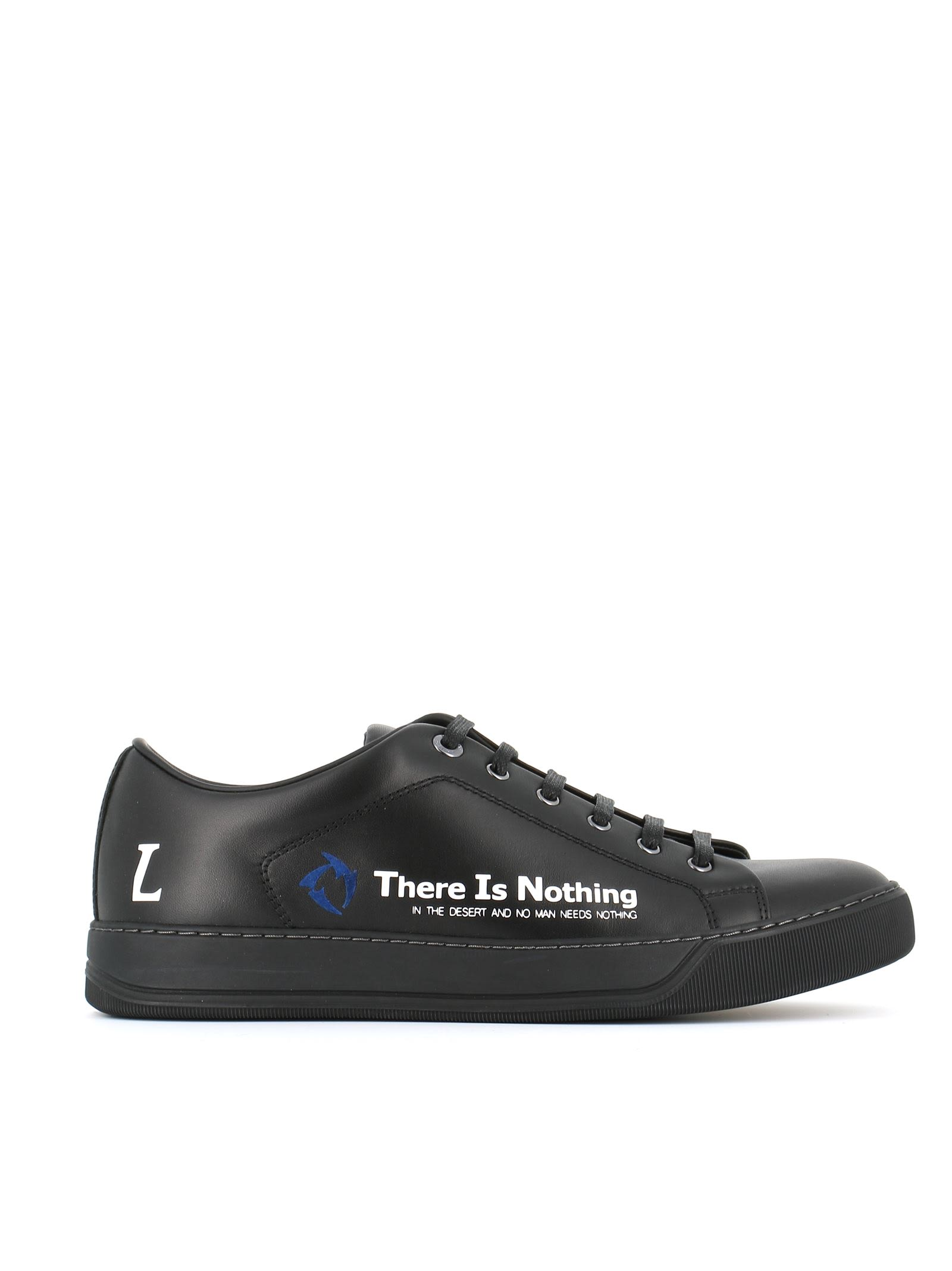 Lanvin Sneakers Low Top With Slogan