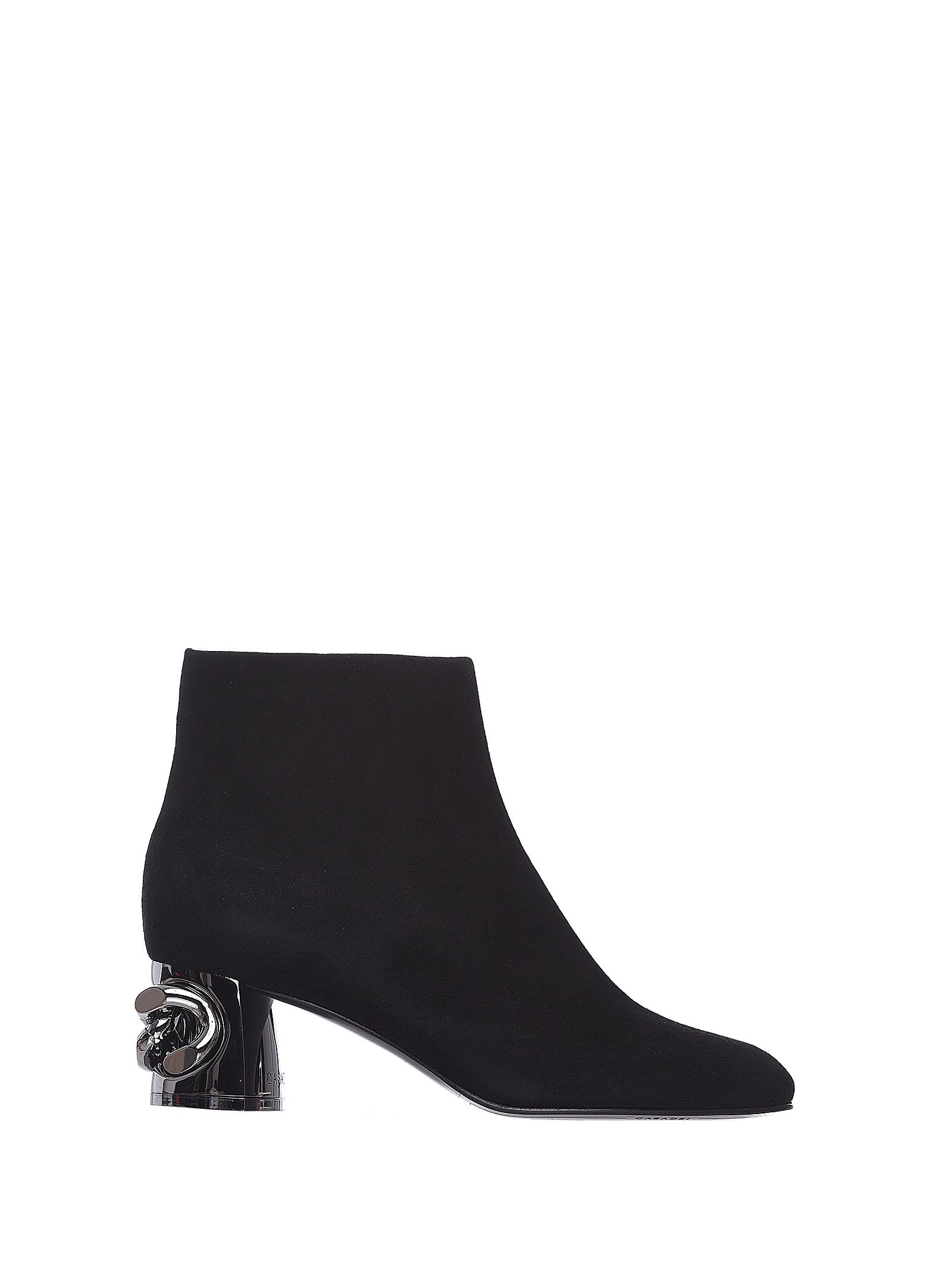 Casadei Maxi Chain Ankle Boots Black
